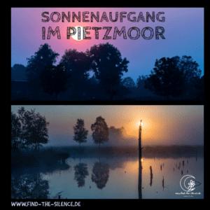 Pietzmoor-Spaziergang im Sonnenaufgang