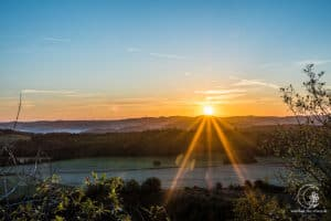 Sonnenaufgang auf dem Rother Kopf in der Eifel